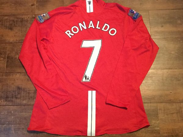 2007 2008 Manchester United L/s Ronaldo Player Issue Football Shirt Adults XXL 2XL